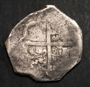 1625-1663, Kingdom of Spain, Philip IV. Large Silver 8 Reales Cob Coin. Seville?