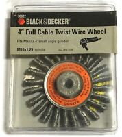 """MADE IN USA CABLE TWIST KNOT WIRE WHEEL 4/"""" 13261 M10X1.25 NUT WEILER"""