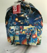 AW17 Moschino Couture Jeremy Scott Transformers Blue Multi-color Print Backpack