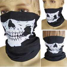 Skull Multi Bandana for Skiing Motorbike Sports Costume Long Neck Warmer