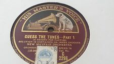 NEW MAYFAIR ORCH QUESS THE TUNES PART 1 & 2 HMV C2298