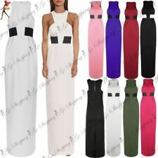 Polyester Dresses Maxi with High Slit