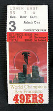 San Francisco 49ers Ticket Stub Sep. 15, 1985 Jerry Rice 1st Home Game SF