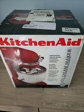Kitchenaid Ice Cream Maker Bowl KICA0WH Stand Mixer Attachment