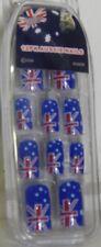 AUSSIE AUSTRALIAN FLAG FINGER NAILS : 12PK : BRAND NEW