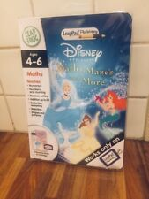 Disney Princess Leap pad Leap Frog Maths Mazes and More with Game Catridge