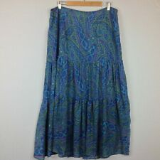 Chadwicks Maxi Skirt Womens 16W Boho Hippie Paisley