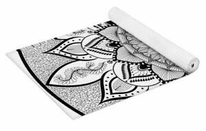 Intricate Mandala-Zendala- Black and Whtie Pattern Yoga Mat