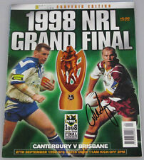 ALLAN LANGER Hand Signed 1998 GRAND FINAL Game Day Programme  Broncos Premiers