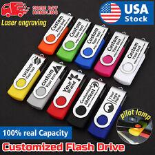 Custom logo compact Lot Swivel USB Flash Drive Memory Stick U Disk Customized