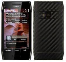 Skinomi Carbon Fiber Black Phone Skin+Screen Protector Cover Film for Nokia X7