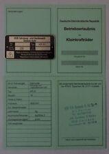 ABE Schwalbe Kr 51 51/1 51/S /K  Betriebserlaubnis SIMSON KEIN Typenschild DDr