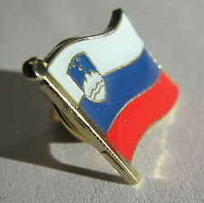 Slovenia Flag Lapel Pin Badge Superior High Quality Gloss Enamel