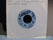 """The Who 7"""" We're Not Gonna Take It / I'm Free, USA Decca Promo,"""