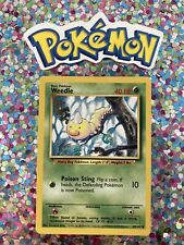 �� Weedle Base Set Pokemon Card Wizards WotC Game Freak Nintendo 1999 �