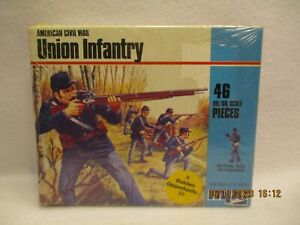 mpc American Civil War Union Infantry HO-OO scale, 1-6004 complete original kit