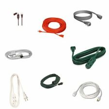 Electrical Extension Cords - Household, Outdoor, Appliance A/C - Choose 3ft - 10