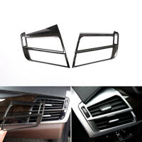 Carbon Fiber Side Air Condition Outlet Vent Sticker Cover For BMW X5 X6 F15 F16