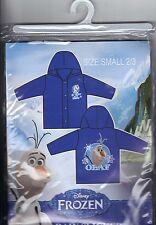 Disney Frozen Olaf Blue Kids Vinyl Rain Slicker Coat Size: Small 2-3 *New