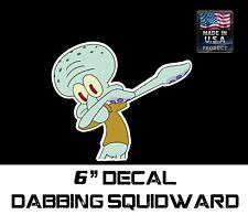 SQUIDWARD DABBING Sticker Decal Funny JDM Drift Dab Hoon Race Car, SpongeBob