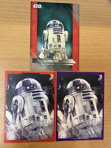 Star Wars The Last Jedi R2-D2 Red Parallel x 2 /199 & Purple Parallel /299