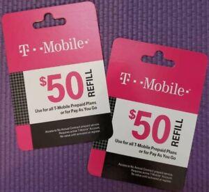 T-Mobile Prepaid $50 Refill Prepaid Card