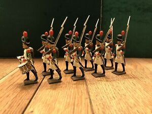 Cbg Mignot: Marching Grenadiers (Green Uniforms). 54mm Lead Figures. Post War