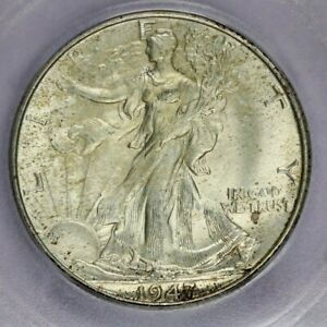 1947-D 1947 Walking Liberty Half Dollar ICG MS64