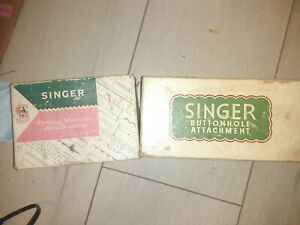 Vintage Singer Buttonhole + Sewing Machine Attachments (Style-o-matic 328)