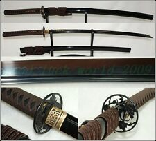 HANDMADE JAPANESE NINJA SECT SHRINE SAMURAI SWORD KATANA BLACK STEEL BLADE