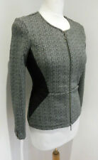 Maison Scotch Rendez Vous grey fitted collarless jacket 8 10 Petite VGC