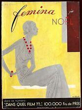 Femina Magazine ~ December 1932 ~ Art Deco Mourgue Benigni Vionnet Paquin