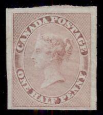 CANADA #8 ½p rose, og, LH, 4 margins, Miller certificate, Scott $1,100.00