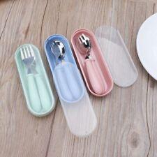 Baby Feeding Spoon Fork Set Toddler Infant Tableware Flatware Kids Cutlery