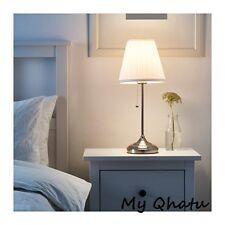 Ikea Arstid Table Lamp Nickel Plated / White Shade New