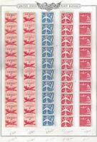 LOT OF 7  AIR MAIL STRIPS OF 10 ,  ALL MINT /.NH-OG