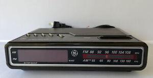 Vintage GE 7-4612B AM/FM Alarm Clock Radio Digital LED General Electric