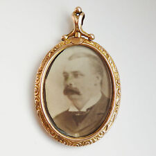 Stunning Antique Edwardian Engraved 9ct Gold Screw Top Double Photo Locket c1905