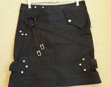 MOSCHINO Jeans donna Designer black cotton mini skirt italy size 40
