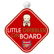 ARSENAL FC BABY ON BOARD CHILD SIGN CAR ACCESSORIES WINDOW NEW GIFT XMAS