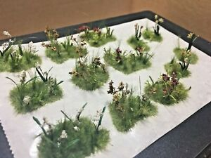 Flowers And Plants Large Grass Tufts - Diorama Elements - Hand Made 1/35 1/32