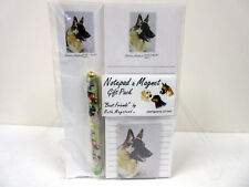 New German Shepherd Dog List Pad Note Pad Magnet Pen Stationery Gift Pack GSH-4