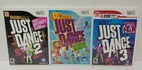 Just Dance 2 3 Kids 1 - Dancing Games Nintendo Wii Game  1-4 players Working!