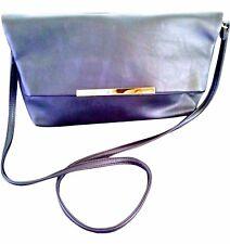 New Shoulder Bag Day Clutch Sling Handbags Purse Baguette Pebbled Black Leather