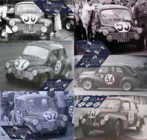 Decals Renault 4-4 4CV Le Mans 1951 1:32 1:43 1:24 1:18 64 87 slot calcas