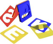 plantillas alfabeto establecen plantillas letras plástico para aprender a pintar