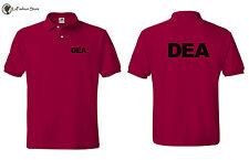 """""""DEA"""" Drug Enforcement Agency Law Enforcement Polo T- Shirts S-5XL."""