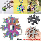 18 In 1 Stainless Tool Multi-tool Snowflake Key Chain Screwdriver Bottle Opener For Sale