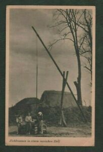 Vintage Postcard - Zichbrunnen (Draw Well) in a Russian Village