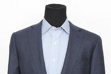 RECENT Ermenegildo Zegna Blue Rust Check Plaid Sport Coat EU 56 US 46 R